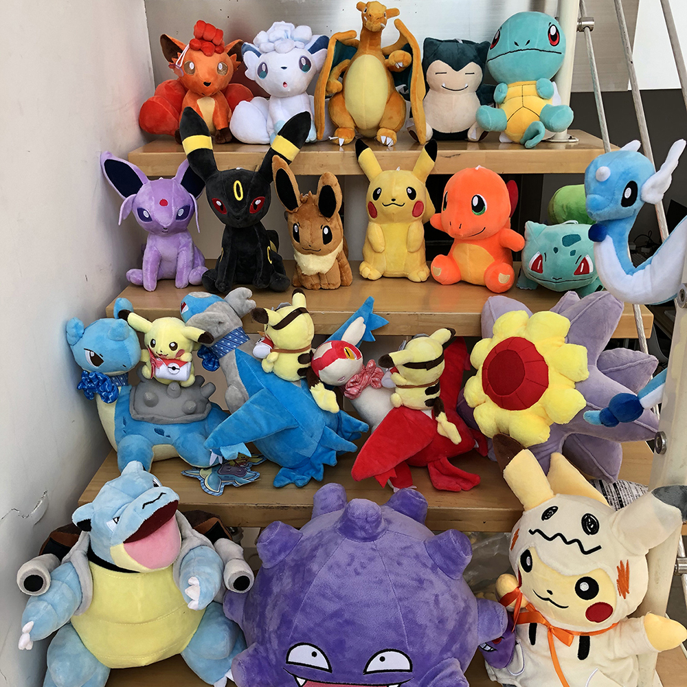41 Styles Pikachued Charmander Bulbasaur Squirtle Pokemoned Plush Toys Eevee Snorlax Jigglypuff Stuffed Doll Christmas Kid Gift 5