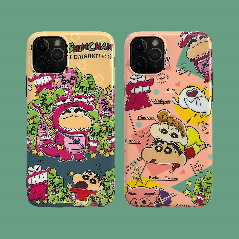 Cartoon Crayon Shin-Chan Phone Case For Iphone 11 Pro Max Case For Iphone XS Max XR X 6S 6 7 8 Plus Silicone Soft Cases Cover