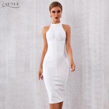 ADYCE 2020 New Summer White Women Bodycon Bandage Dress elegante Tank Sexy senza maniche Club Celebrity Evening Runway abiti da festa