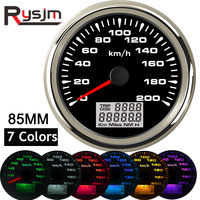 7 farben Hintergrundbeleuchtung GPS Tacho 85mm auto kilometerzähler auto tuning tachometer instrument panel snelheidsmeter motor für bmw e46-in Tachometer aus Kraftfahrzeuge und Motorräder bei