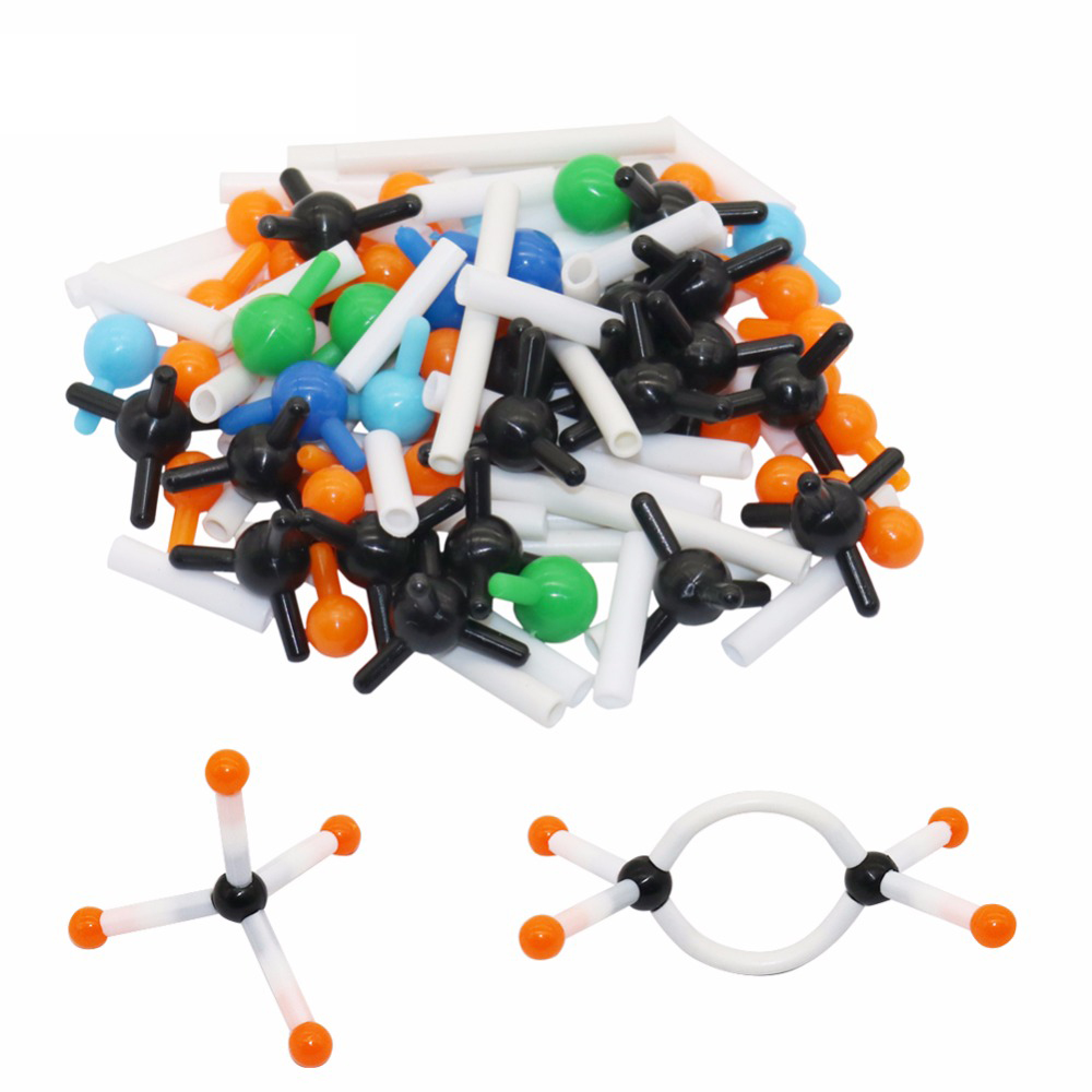 Diameter 9mm Miniature Molecular Structure Model Organic Chemistry Model Set Kit School Lab Teaching Experiment Tool