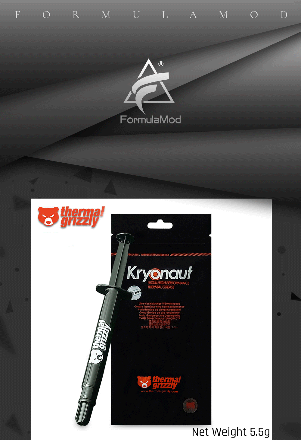 Thermal Grizzly Hydronaut 12.5W/mK Thermal Grease Ultra High Performance For Graphics Card Cpu GPU Grease 1g/5.5g