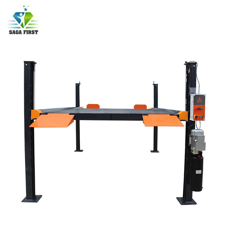Four Post Hydraulic Parking Car Lift Hydraulic Car Lift Single Post Car Lift