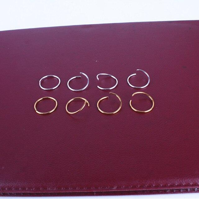 20pcs/lot Golden/ Silver Hair Braid Dreadlock Bead Cuff Clip Braid Hoop Circle Approx 14mm Inner Hole 1