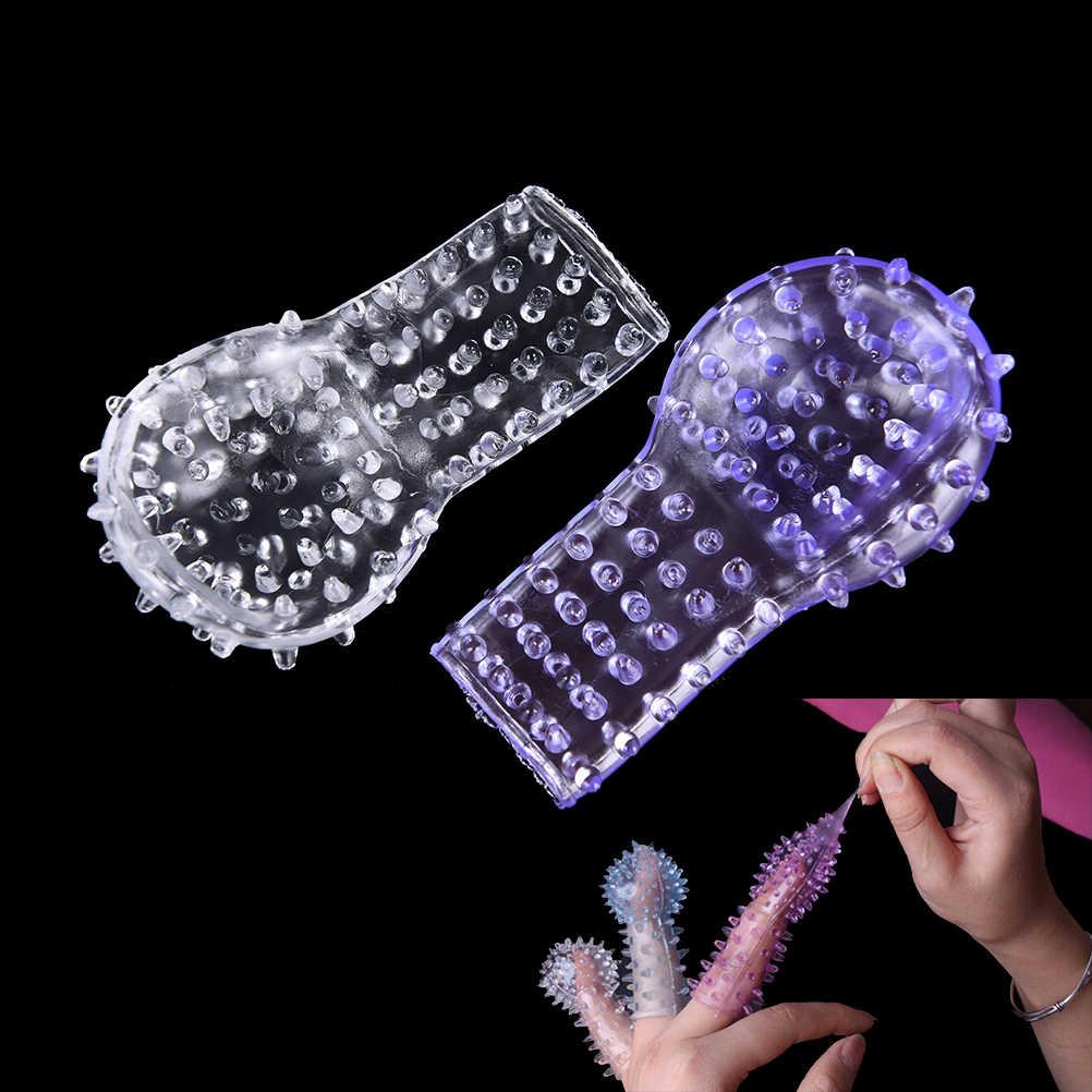 2 PCS Sex Finger Sleeve Vibrator Clitoral Stimulator Flirting Vagina Dildo Female Masturbation Sex Toys For Adult Erotic Toys