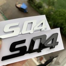Chrome Glossy สีดำตัวอักษรสัญลักษณ์สำหรับ Maserati Ghibli Gransport Quattroporte Granlusso Q4 SQ4 GTS โลโก้รถ Trunk สติกเกอร์ด้านข้าง