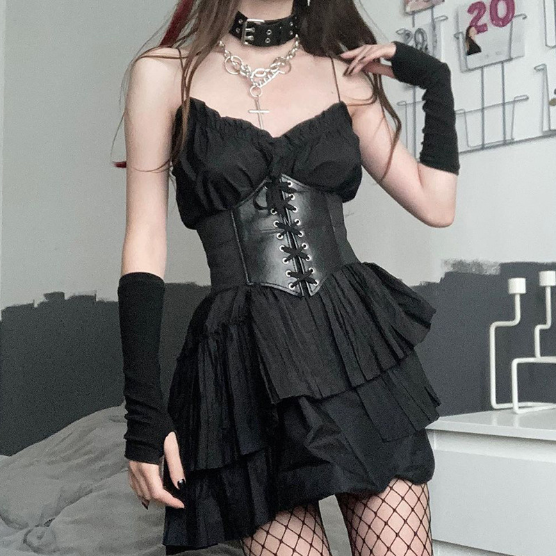 Black Sexy Women's Corset Top Female Gothic Clothing Underbust Waist Sexy Bridal Bustier Top Body Shapewear Slimming Clothing