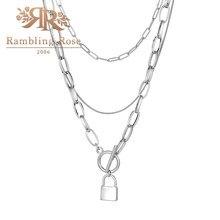 Женское винтажное ожерелье, ожерелье с подвеской в виде многослойного замка, чокер в стиле панк, Подарочная бижутерия, 2021