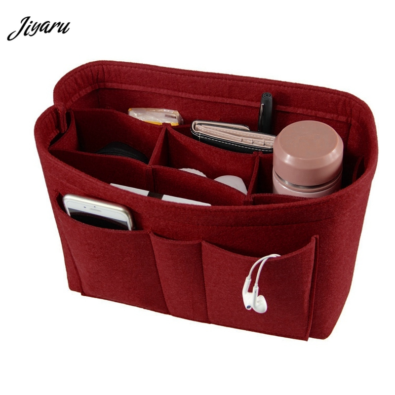 Felt Makeup Bag Organizer Insert Bag Handbag Organizer Insert Multi-functional Travel Cosmetic Bag Girl Toiletry Storage Bags