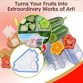Invernadero con pentagrama mágico en forma de corazón, pepino, fruta que moldea...