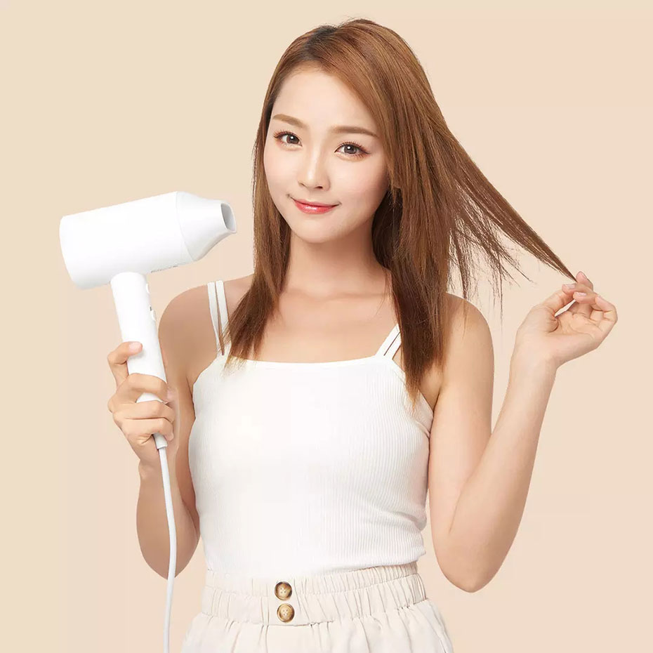 XIAOMI MIJIA SHOWSEE A1-W Anion Hair Dryer Negative Ion hair care Professinal Quick Dry Home 1800W Portable Hairdryer Diffuser