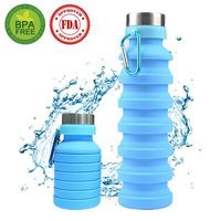 550ml Creative Telescopic Travel Portable Water Cup Outdoor Sports Silicone Foldable Water Bottle|Water Bottles|Home & Garden -