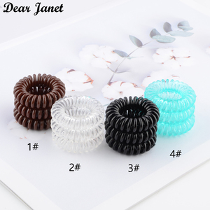 1box 3.5cm Fashion Cute Candy Color telephone line hair gum styling tools headwear drop shipping