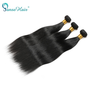 Image 4 - Panse Hair Malaysian Hair Human Hair Extensions Straight Hair Customized 8 30 Inches Non Remy Can be Dye Color 1B 1PCS Per Lot