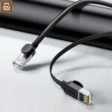 Xiaomi Mijia RJ45 Gigabit Ethernet kablosu, yuvarlak/düz kablo, sıkışmış, hiçbir Internet sıkışmış/hızlı hızlı/pürüzsüz görüntüleme