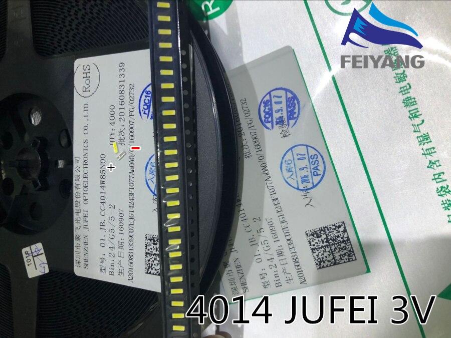 50 шт. JUFEI 4014 светодиодный 100 шт. Подсветка светодиоды средней мощности Светодиодный 0,5 Вт 3В 4014 холодный белый ЖК-дисплей Подсветка для ТВ Прим...
