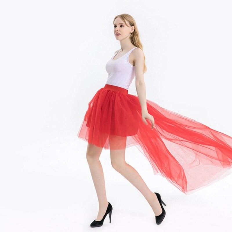 White Lady's Princess Tutu Tulle Midi Above Knee Skirt Underskirt Princess Ballet Dance Pettiskirts Underskirt CQ038