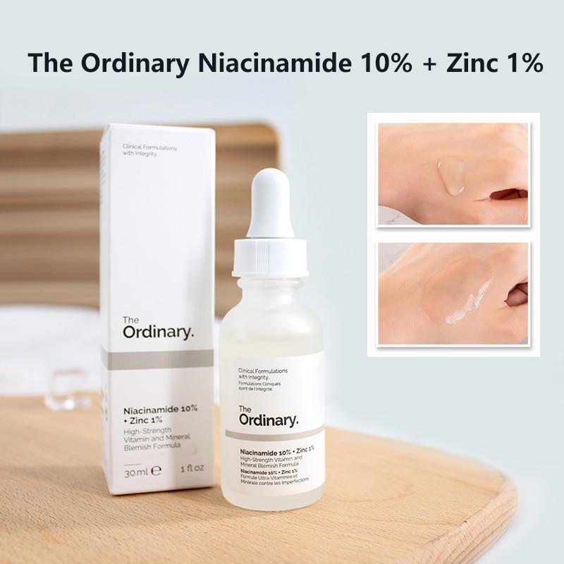 30ML The Ordinary Niacinamide 10% + Zinc 1% Face Serum Oil Balance Reduce Skin Blemishes Whitening Moisturizer