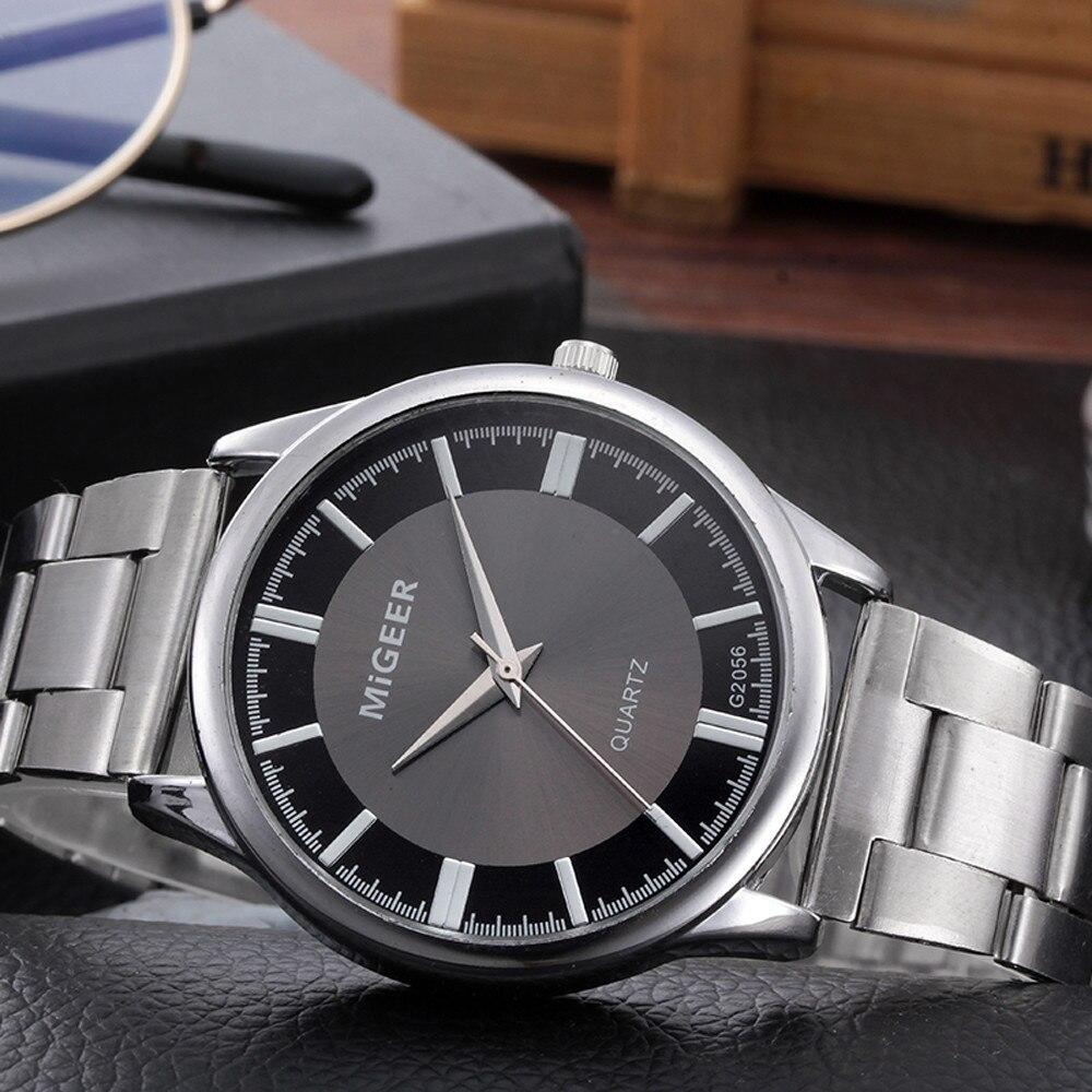 Luxury Brand  Men Fashion Sport Crystal Stainless Steel  Quartz Digital Watches Men's Analog Wrist Watch Relogio Masculino  @5