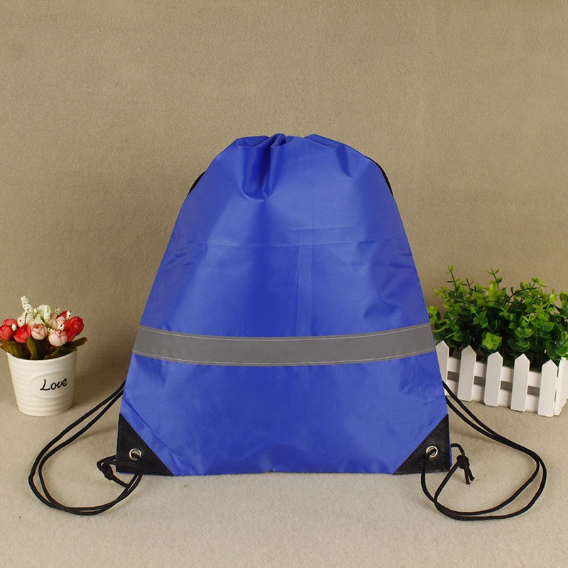 Drawstring Waterproof Backpack Bag Lightweight Reflective Portable Double Shoulder Strap Sport Bag For Yoga Fitness Travel
