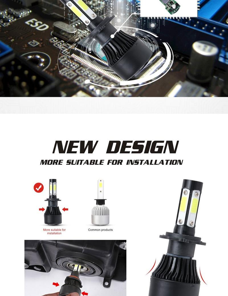 Hd0cb2d82f37149619bd7bc0c561a15b73 TF30 New 4 Side Lumens COB 100W 10000lm H4 Hi lo H7 H11 9005 9006 Car LED Headlight Bulbs Auto Led Headlamp LED C6 Light 12v 24v