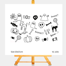 ZhuoAng Halloween Pumpkin Candy Clear Stamps/Card Making Holiday decorations For  scrapbooking Transparent stamps 10*15cm