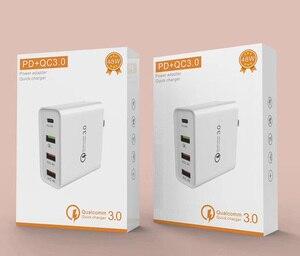 Image 5 - Быстрое зарядное устройство QC 3,0, 48 Вт, сетевое зарядное устройство с портом USB Type C 3,0 PD для Samsung, iPhone, Huawei, планшетов, адаптер с вилкой Стандарта США, ЕС, Великобритании, Австралии