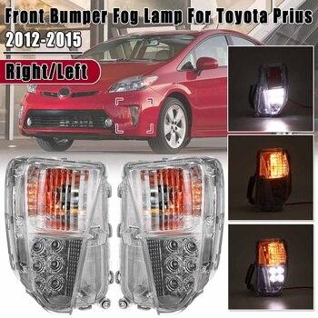 Left Right Front Bumper Fog Lamp LED DRL Light Driver Marker New For Toyota Prius 2012 2013 2014 2015 Car Daytime Running Light