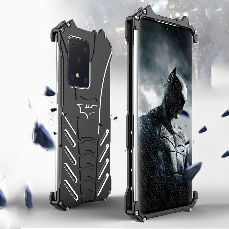 Batman Shockproof Metal Case For Samsung Galaxy S20 Ultra Luxury Thin Aluminum S20 Plus Armor Cover For Samsung S20 Ultra Casing
