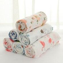 Детское муслиновое одеяло, Пеленальное Одеяло, фламинго, хлопок, мягкое детское банное полотенце, Пеленальное Одеяло, аксессуары для фотографирования новорожденных