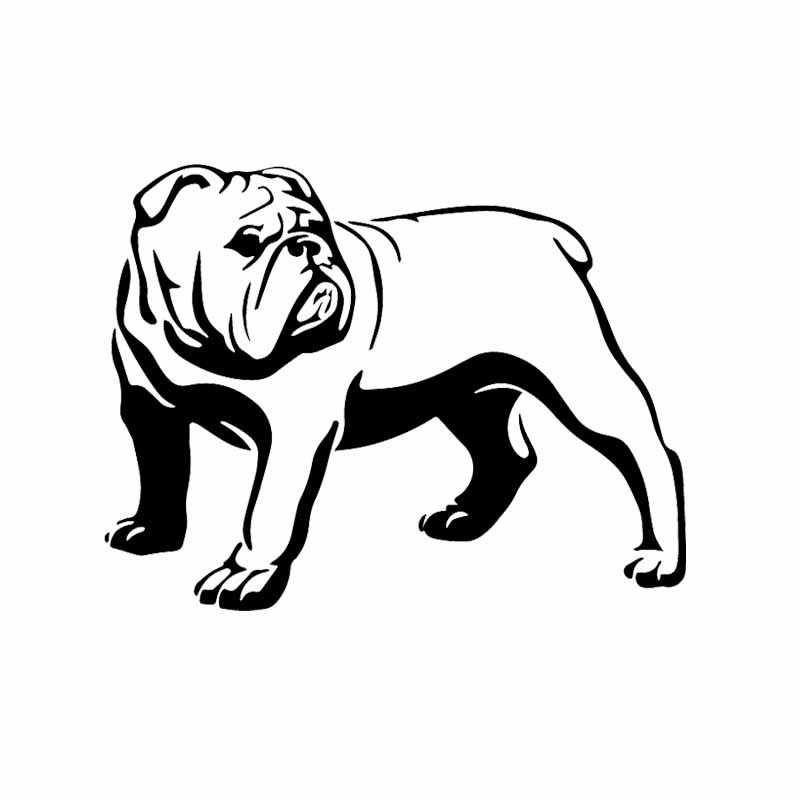 Auto Sticker Grappig Olde Engels Bulldog Bully Hond Decal Auto Sticker Pvc Decoratieve Sticker Creatieve Zwart/Wit, 16Cm * 12Cm