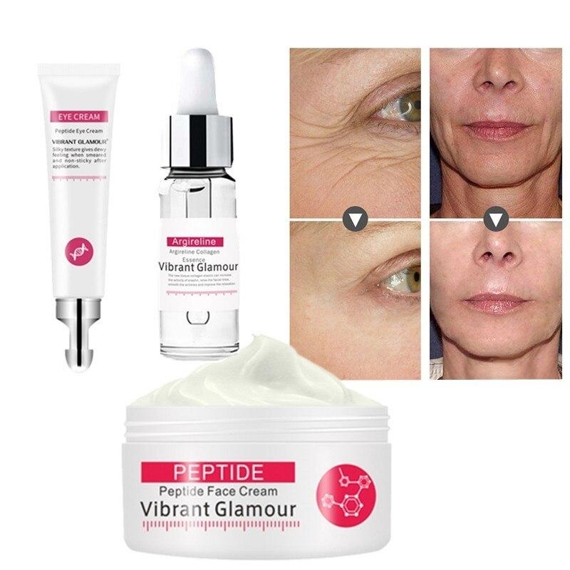 VIBRANT GLAMOUR 1 Set Face Cream Argireline Pure Collagen Serum Cream Anti-wrinkle Firming Anti Aging Moisturizing Skin Care