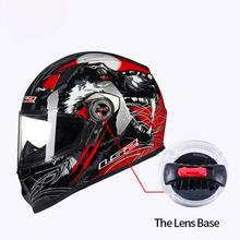 2Pcs Motorcycle Flip Up Full Face Helmet Windshield Lens Screen Shield Lock Kit
