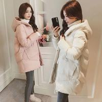 2019 Winter Women jacket Casual Solid thick warm Long Hooded parkas Jackets female zipper pocket slim sintepon padded snow coats