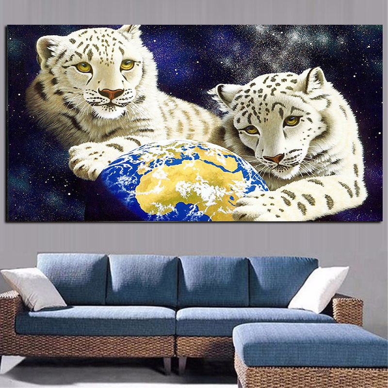 Modern Wild Animal Tiger Abstract Oil Painting on Canvas Poster and Print Pop Art Modern Wall Picture for Living Room Cuadros