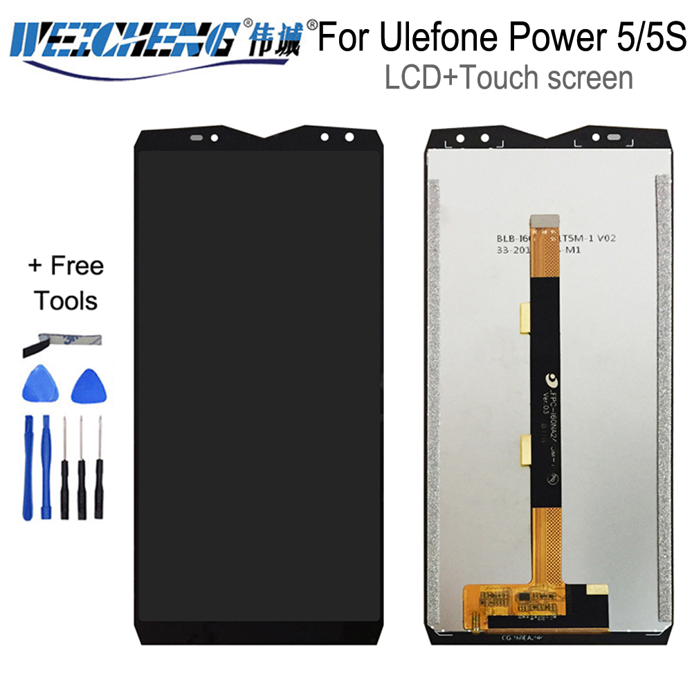 For <font><b>Ulefone</b></font> <font><b>Power</b></font> <font><b>5</b></font> LCD Display +Touch <font><b>Screen</b></font> Assembly Digitizer Replacement For LCD <font><b>Ulefone</b></font> Power5 <font><b>power</b></font> 5s Display free Tools image
