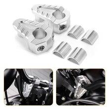 7/8 22Mm 28Mm Zilver Cnc Aluminium Stuur Risers Rise Mount Klem Universalia Motorfiets Atv Riser D35