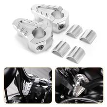 7/8 22mm 28mm Silver CNC Aluminum Handlebar Risers Rise Mount Clamp Universals Motorcycle ATV Riser D35