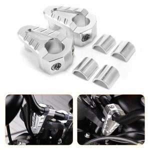 Image 1 - 7/8 22mm 28mm gümüş CNC alüminyum gidon yükselticiler Rise dağı kelepçe Universals motosiklet ATV yükseltici D35