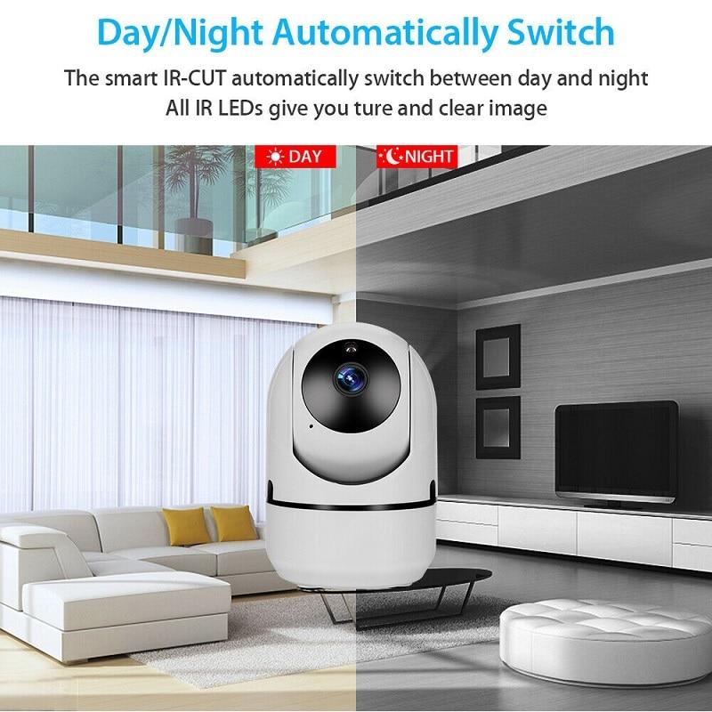 Hd0cbdee3c1814d3fba93a6f2775b0f6aG wdskivi Auto Track 1080P IP Camera Surveillance Security Monitor WiFi Wireless Mini CCTV Indoor Camera YCC365 Plus
