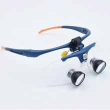 LED High-definition Headlight Dental Surgical Magnifying Glass 2.0, 2.3X, 2.5X Double Barrel Head-wearing Glasses Magnifier