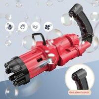 Pistola de burbujas automática para niños, máquina de burbujas de agua y jabón de verano, 2 en 1, eléctrica, juguetes de regalo