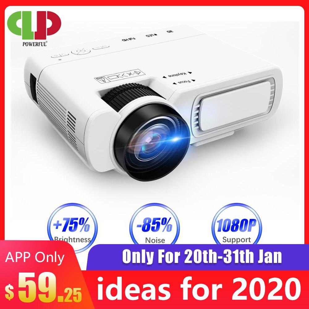 Potente mini proyector T5 800*600 ppp compatible con 1080P 2600 lúmenes Android conexión inalámbrica opcional teléfono proyector Home Cinema