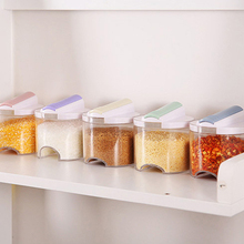 5 шт. прозрачная банка для приправ красочное покрытие коробка для приправ кухонный инструмент соль перец приправа бутылка коробка для хранения Контейнер