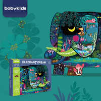 Dzieci Montessori las układanka ze zwierzętami 280 sztuk Zabawki dla dzieci słoń twórczej sztuki Puzzle Zabawki rozwoju Speelgoed