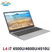 L4, металлический корпус, 15,6 дюймов, Intel i7 4500U, ноутбук, 8 ГБ/16 ГБ ram, 1080 P, ips, ноутбук, Windows 10, Двухдиапазонная, WiFi, полноразмерная клавиатура