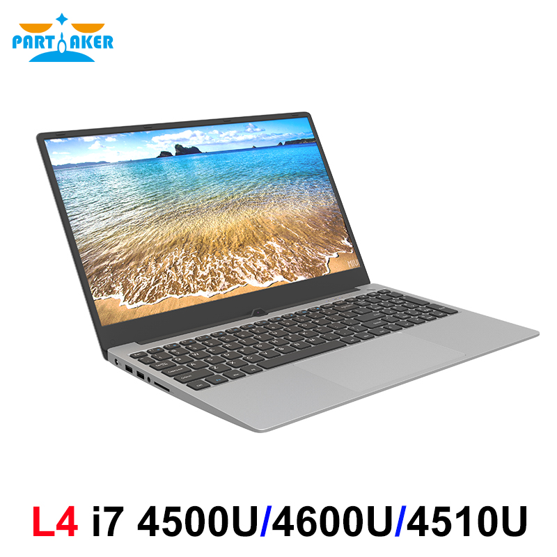 L4 Metal Shell 15.6 Inch Intel I7 4500U Laptop 8GB/16GB RAM 1080P IPS Notebook Windows 10 Dual Band WiFi Full Layout Keyboard