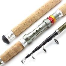 Новая телескопическая удочка 2,1 м, 2,4 м, 2,7 м, 3,0 м, 3,6 м, спиннинг с деревянной ручкой из углеродного волокна, очень тяжелая удочка для ловли карпа, морские снасти