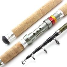 Novo 2.1m 2.4 2.7 3.0m 3.6 vara de pesca telescópica de madeira carbono lidar com fiação vara extra pesada carpa pesca pólo mar enfrentar