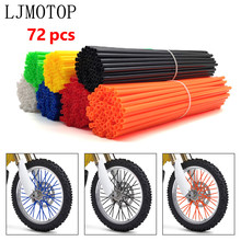 Decor-Protector Rim-Cover Wrap-Tubes Spoke Skins Wheel Dirt-Bike Orange Universal Motorcycle